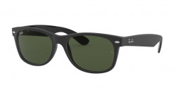 Ray-Ban RB 2132 NEW WAYFARER 646231  TOP RUBBER BLACK ON SHINY BLK green