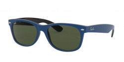 Ray-Ban RB 2132 NEW WAYFARER 646331  TOP RUBBER BLUE ON SHINY BLACK green