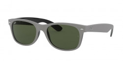 Ray-Ban RB 2132 NEW WAYFARER 646431  TOP RUBBER GREY ON SHINY BLACK green
