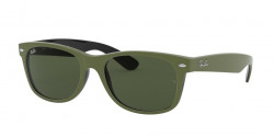 Ray-Ban RB 2132 NEW WAYFARER 646531  TOP RUBBER MILITARY GREEN ON BLACK green