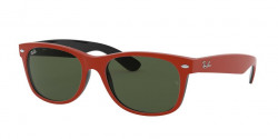 Ray-Ban RB 2132 NEW WAYFARER 646631  TOP RUBBER RED ON SHINY BLACK green
