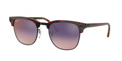 Ray-Ban RB 3016 CLUBMASTER 12753B  TOP TRASP RED ON HAVANA ORANGE  pink gradient violet