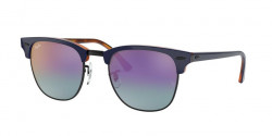 Ray-Ban RB 3016 CLUBMASTER 1278T6  TOP BLUE ON HAVANA RED  blue mirror gradient fucsia