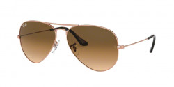 Ray-Ban RB 3025 AVIATOR 903551  COPPER  clear gradient brown