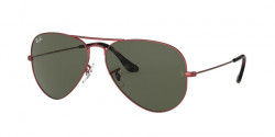Ray-Ban RB 3025 AVIATOR 918831  SAND TRASPARENT RED  green