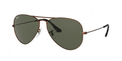 Ray-Ban RB 3025 AVIATOR 918931  SAND TRASPARENT BROWN green