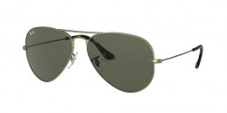 Ray-Ban RB 3025 AVIATOR 919131  SAND TRASPARENT GREEN green
