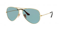 Ray-Ban RB 3025 AVIATOR 919262  GOLD light blue