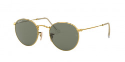 Ray-Ban RB 3447 ROUND METAL 001/58  GOLD polar green