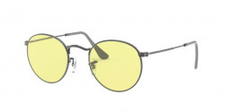 Ray-Ban RB 3447 ROUND METAL 004/T4  GUNMETAL photochromic light yellow
