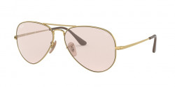 Ray-Ban RB 3689 AVIATOR METAL II 001/T5  GOLD photochromic  light pink