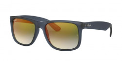 Ray-Ban RB 4165 JUSTIN 6341T0  TRANSPARENT BLUE blue gradient green mirror red