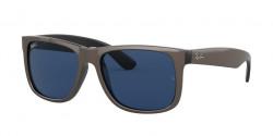 Ray-Ban RB 4165 JUSTIN 647080  BROWN METALLIC ON BLACK  dark blue
