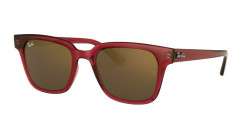 Ray-Ban RB 4323  645193  TRANSPARENT RED  light brown mirror gold