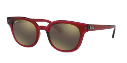 Ray-Ban RB 4324  645193  TRANSPARENT RED  light brown mirror gold