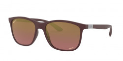 Ray-Ban RB 4330 CH CHROMANCE 64456B  SAND DARK VIOLET purple mir gold gradient polar