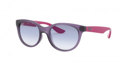 Ray-Ban RJ 9068 S  Junior 705719  RUBBER TRASP VIOLET clear gradient light blue