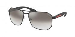 Prada PS 51 VS  1BO5O0  MATTE BLACK gradient grey mirror silver