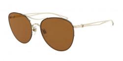 Giorgio Armani AR 6101  30136H  PALE GOLD  brown mirror gold