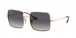 Ray-Ban RB 1971 SQUARE 914778 GOLD blue gradient blue polar
