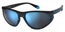 Polaroid PLD 7032/S  S6F/5X  BLACK/BLUE polar grey mirror blue