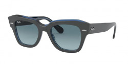 Ray-Ban RB 2186 STATE STREET  12983M  GREY ON TRASPARENT BLUE  blue gradient grey