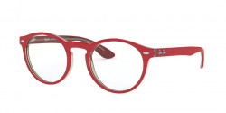 Ray-Ban RB 5283 5987  RED ON TOP TRASPARENT GREY