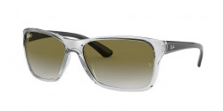 Ray-Ban RB 4331  64777Z  TRANSPARENT  light grey gradient green
