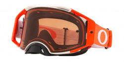 Gogle Oakley OO 7046 AIRBRAKE MX 704691  TUFF BLOCKS WHITE ORANGE prizm mx bronze