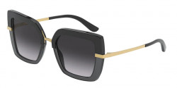 Dolce&Gabbana DG 4373  32468G TOP BLACK ON TRANSPARENT BLACK grey gradient
