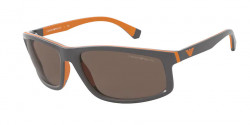 Emporio Armani EA 4144  580073  MATTE GREY/ORANGE RUBBER  dark brown