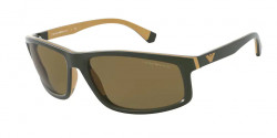 Emporio Armani EA 4144  582973  MATTE DARK GREEN/GOLD RUBBER dark brown