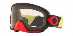 Oakley OO 7115 O FRAME 2.0 PRO MX 711525  TUFF BLOCKS YELLOW RED clear