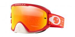 Oakley OO 7115 O FRAME 2.0 PRO MX 711529  TLD MONOGRAM ORANGE RED fire iridium