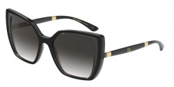 Dolce&Gabbana DG 6138  32468G  BLACK ON TRANSPARENT GREY grey gradient