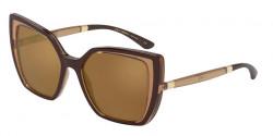 Dolce&Gabbana DG 6138  32736H  BROWN ON TRANSPARENT BEIGE orange gradient brown