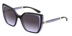 Dolce&Gabbana DG 6138  32744Q  BLACK ON TRANSP DARK VIOLET light violet grad dark grey