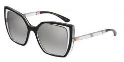 Dolce&Gabbana DG 6138  675/6V  BLACK ON CRYSTAL  light grey mirror silver grad