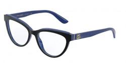 Dolce&Gabbana DG 3332  3273  TOP BLACK ON BLUE MARBLE