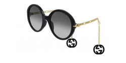 Gucci GG 0726 S  001 BLACK/GOLD grey gradient