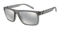 Arnette AN 4267 GOEMON 2590Z6  SHINY TRANSPARENT GREY  light grey mirror silver 80