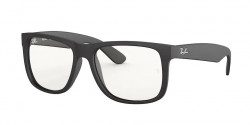Ray-Ban RB 4165 JUSTIN 622/5X  RUBBER BLACK clear