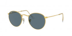Ray-Ban RB 3447 ROUND METAL 9196R5  LEGEND GOLD blue