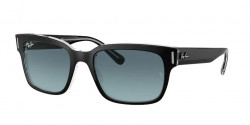 Ray-Ban RB 2190 JEFFREY 12943M  BLACK ON TRANSPARENT  blue gradient grey