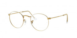 Ray-Ban RB 3447 V ROUND METAL 3104  WHITE ON LEGEND GOLD