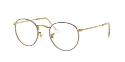 Ray-Ban RB 3447 V ROUND METAL 3105  BLUE ON LEGEND GOLD