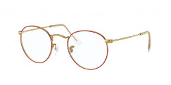 Ray-Ban RB 3447 V ROUND METAL 3106  RED ON LEGEND GOLD