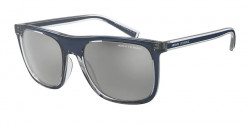 Armani Exchange AX 4102 S  83206G  SHINY BLUE mirror silver