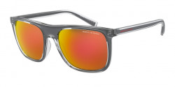 Armani Exchange AX 4102 S  83196Q  SHINY GREY mirror orange