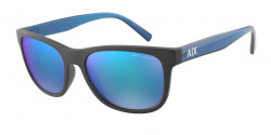Armani Exchange AX 4103 S  807825  MATTE BLACK mirror blue